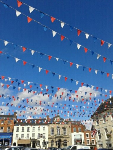 Ashbourne's bunting thanks to Zoe Marello of The Coach House B&B, Darley Abbey