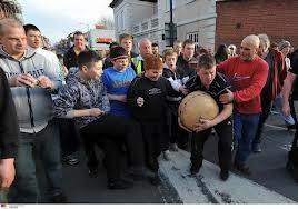 The Atherstone Shrovetide game - image courtesy Coventry Telegraph