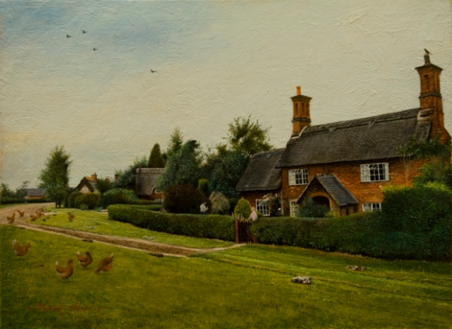 """Thatched Cottages - Osmaston"" by Derek Shapiro"