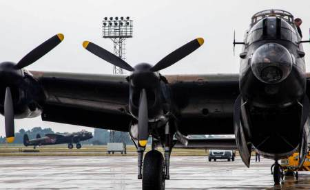 two Lancasters